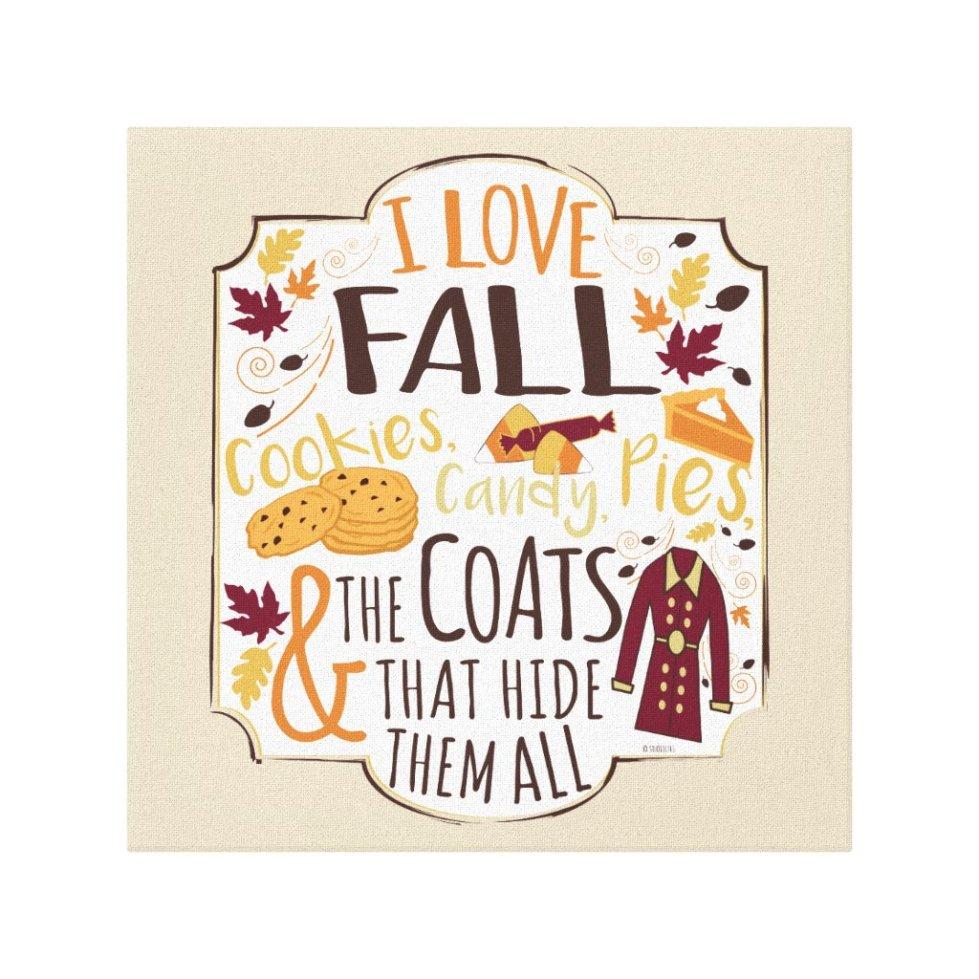 I Love Fall Canvas Print