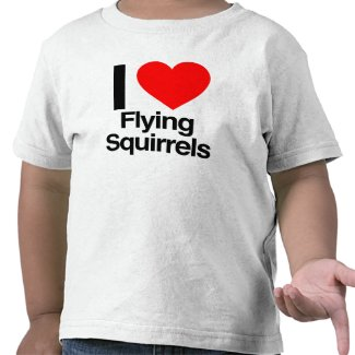 i love flying squirrels t-shirt