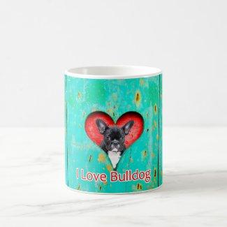 I Love French Bulldog Mug