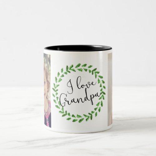 I Love Grandpa Custom Photo Mug