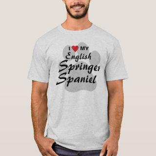 I Love (Heart) My English Springer Spaniel T-Shirt