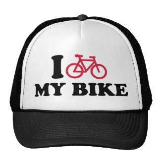 I Love my bike Bicycle Mesh Hats