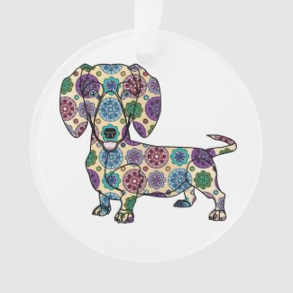 I Love My Dachshund - Circle Ornament