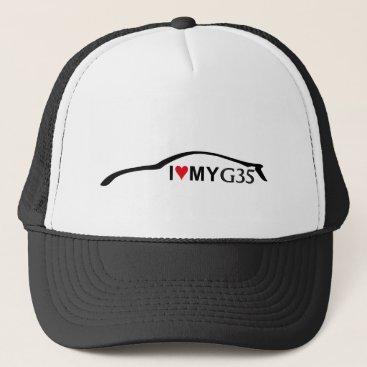 I Love my G35 Baseball Cap Silhouette Logo