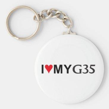 I Love my G35 Key-Chain Keychain