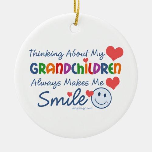 I Love My Grandchildren Ceramic Ornament