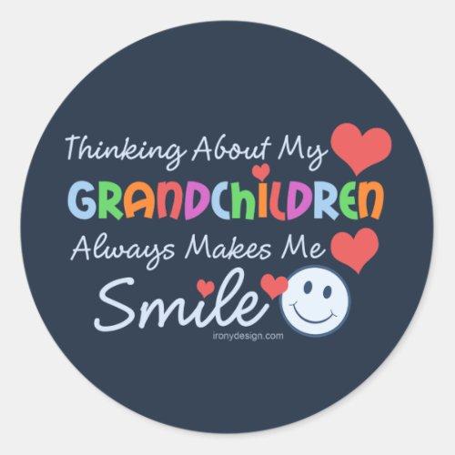 I Love My Grandchildren Classic Round Sticker