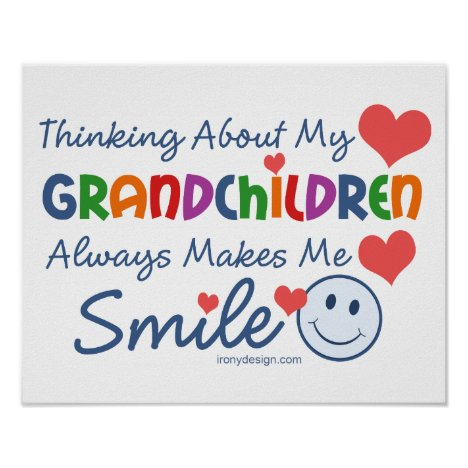 I Love My Grandchildren Cute Poster
