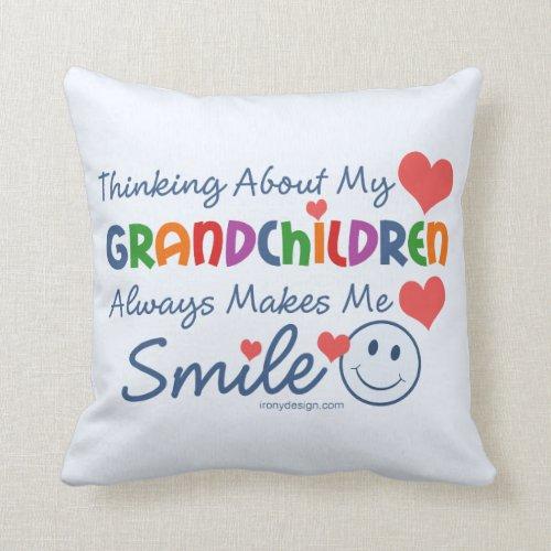 I Love My Grandchildren Cute Throw Pillow