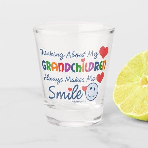 I Love My Grandchildren Shot Glass