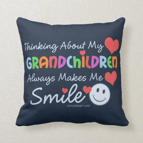 I Love My Grandchildren Throw Pillow