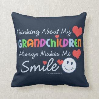 I Love My Grandchildren Throw Pillows