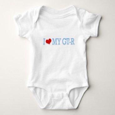 I love my GTR - Blue Baby Bodysuit