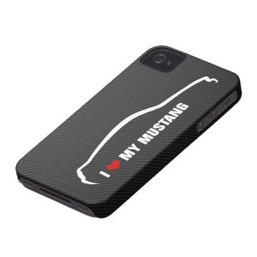 I Love My Mustang iPhone 4 Case-Mate Case