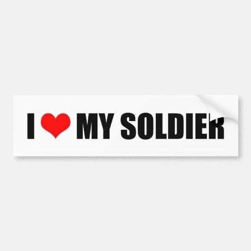 Download I LOVE MY SOLDIER BUMPER STICKER | Zazzle
