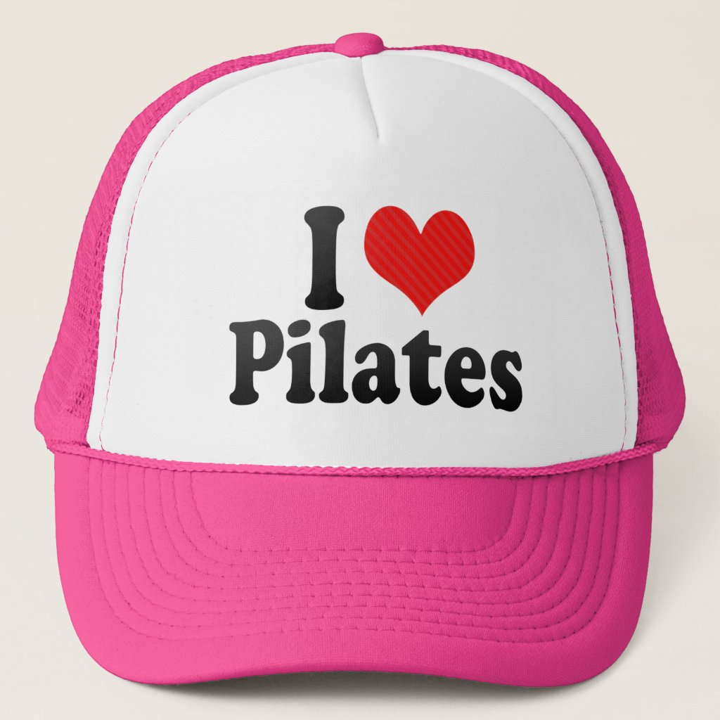 I Love Pilates Trucker Hat