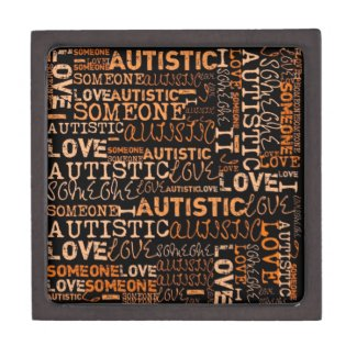 I love someone autistic box premium keepsake box