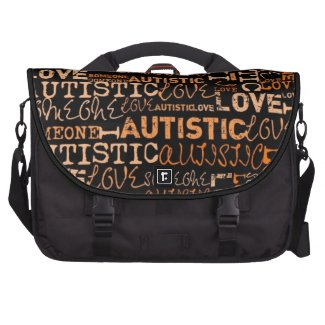 I Love Someone Autistic Laptop Bags