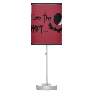 I Love The Night Halloween Lamp