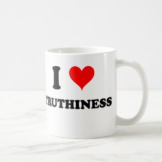 I Love Truthiness Classic White Coffee Mug