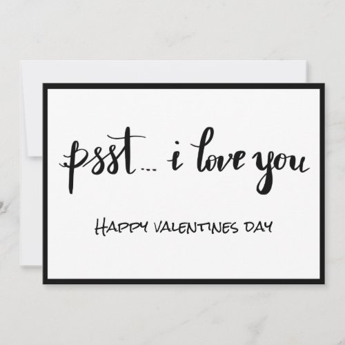 I Love You Handwritten Script Bohemian Holiday Card