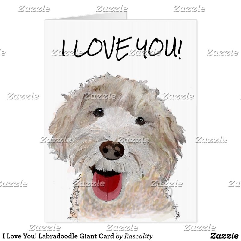 I Love You! Labradoodle Giant Card