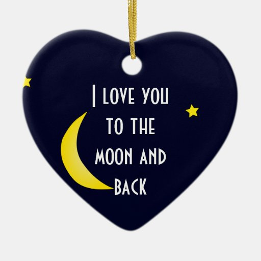 I Love You Moon And Back Christmas Ornament