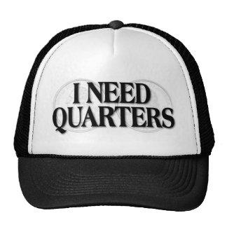 I Need Quarters Mesh Hats