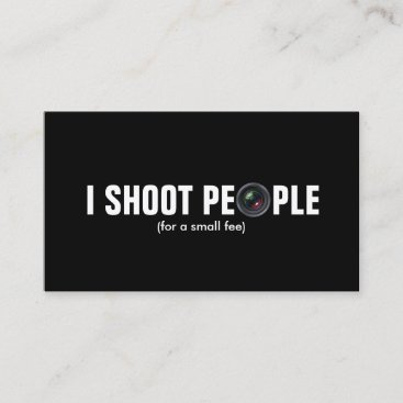 I shoot people - Metallic Paper (photography) Business Card
