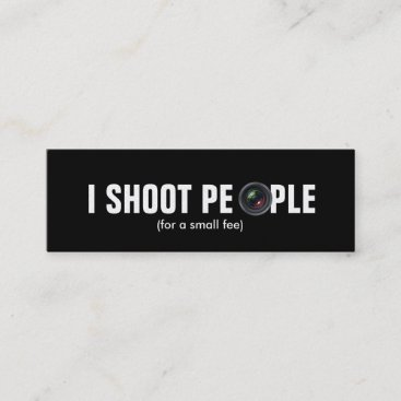 I shoot people - Metallic Paper (photography) Mini Business Card