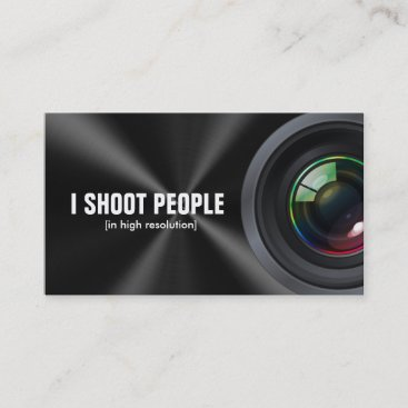 I shoot people - Professional Photographer Business Card