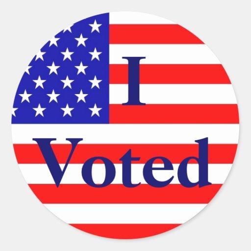 voted election round stickers zazzle