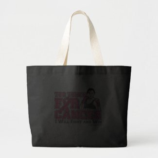 I Will Fight & Win - Too Tough For Breast Cancer bag