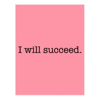 I Will Succeed Inspirational Success Quote