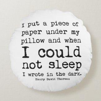 I Wrote in the Dark Thoreau Quote