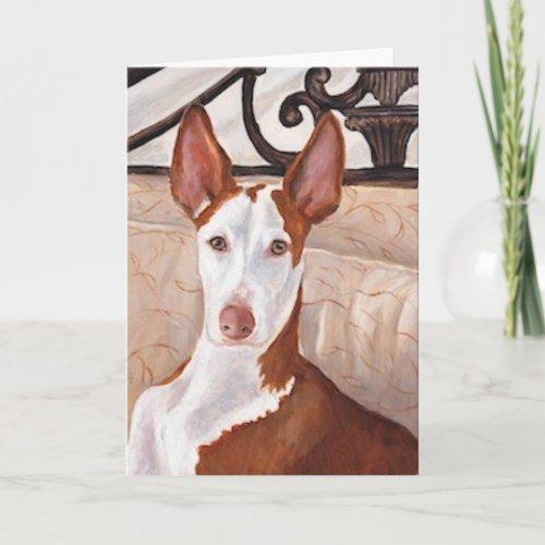 Ibizan Hound Dog Art Greeting Card