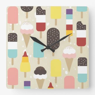 Ice Cream & Frozen Treats Wall Clock