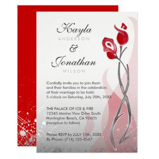 Black And Silver Wedding Invitation Iwi136