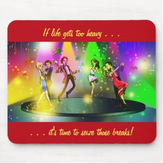 If life gets too heavy Inspirational Mousepad (1)