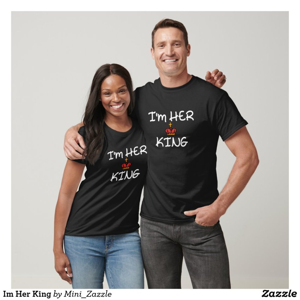 Cute Her King His Queen Couple T-Shirt