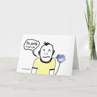 I'm Sorry - Cartoon Guy - Card card