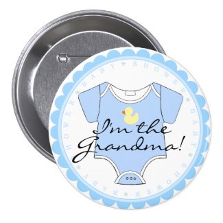 I'm The Grandma-Blue Pins