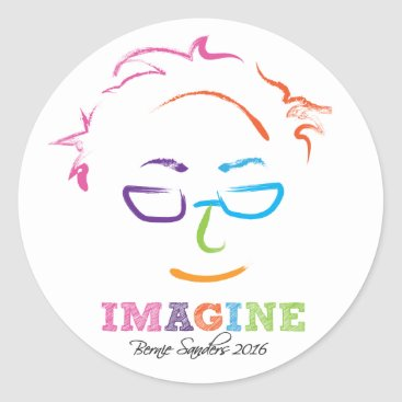 Imagine Bernie 2016 Classic Round Sticker
