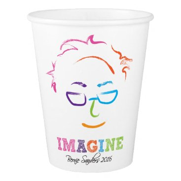 Imagine Bernie Sanders 2016 - brush art Paper Cup