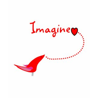 Imagine Birds/Hearts Design shirt