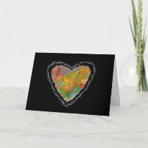 Impressionist Heart Valentine Love Romance Card