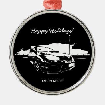 """Impreza STI """"drift"""" premium Christmas Ornaments"""