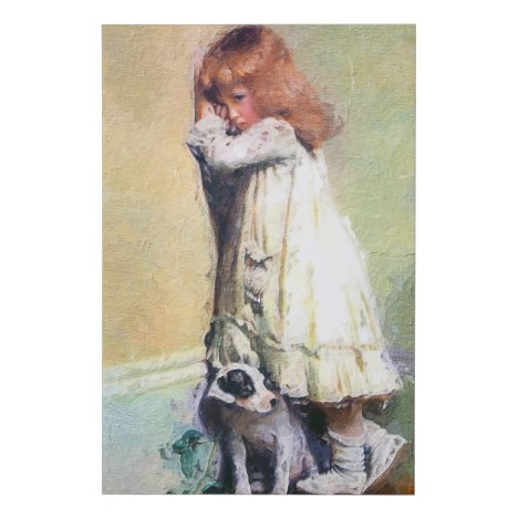 In Disgrace Vintage Oil Painting Masterpiece Faux Canvas Print
