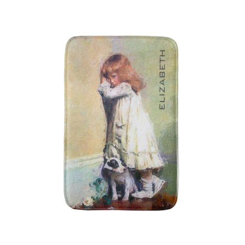In Disgrace Vintage Oil Painting Personalized Bath Mat