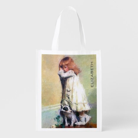 In Disgrace Vintage Oil Painting Personalized Grocery Bag